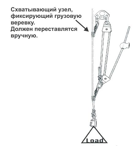 простой полиспаст 3:1 из отдельной веревки
