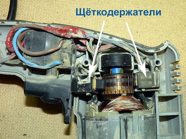 Схема подключения кнопки дрели